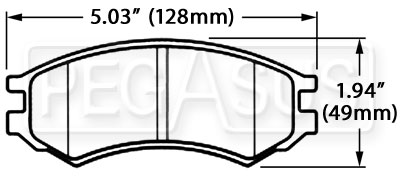 Large photo of Hawk Brake Pad, Saturn S Series (D507), Pegasus Part No. HB409-Compound-Thickness