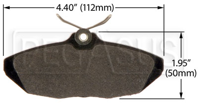 Large photo of Hawk Brake Pad: Ford, Jaguar, Lincoln Rear (D806), Pegasus Part No. HB428-Compound-Thickness