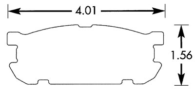 Large photo of Hawk Brake Pad, 01-05 Mazda Miata Sport Rear (D891), Pegasus Part No. HB442-Compound-Thickness