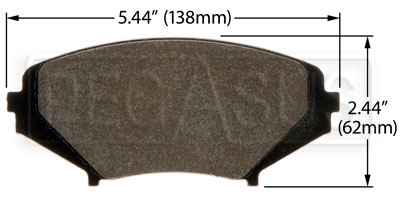 Large photo of Hawk Brake Pad: Mazda RX-8 (D1009), Pegasus Part No. HB470-Compound-Thickness