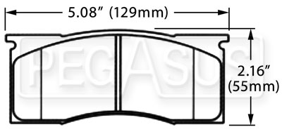 Large photo of Hawk Brake Pad: Mustang, Dart, Valiant (D11), Pegasus Part No. HB471-Compound-Thickness