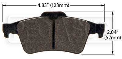 Large photo of Hawk Brake Pad: Mazda 3, 5, Solstice Rear (D1095), Pegasus Part No. HB478-Compound-Thickness