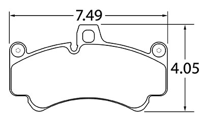 Large photo of Hawk Brake Pad, 08 Porsche 911 GT2 / GT3 (D991), Pegasus Part No. HB483-Compound-Thickness