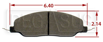 Large photo of Hawk Brake Pad, 05-10 Ford Mustang GT (D1081), Pegasus Part No. HB484-Compound-Thickness