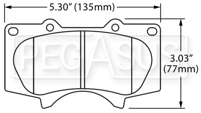 Large photo of Hawk Brake Pad: Toyota/Lexus Trucks, SUVs (D976), Pegasus Part No. HB490-Compound-Thickness