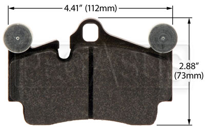 Large photo of Hawk Brake Pad: Porsche Cayenne, VW Touareg Rear (D978), Pegasus Part No. HB502-Compound-Thickness