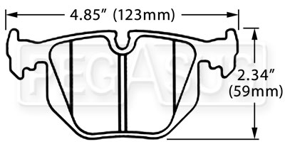 Large photo of Hawk Brake Pad, BMW Rear (D683), Pegasus Part No. HB518-Compound-Thickness