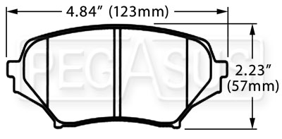 Large photo of Hawk Brake Pad: 06-08 Mazda MX-5 Miata (D1179), Pegasus Part No. HB522-Compound-Thickness