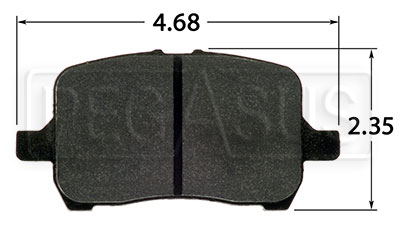 Large photo of Hawk Brake Pad, Cobalt, G6, Saturn Ion Redline (D1028), Pegasus Part No. HB524-Compound-Thickness
