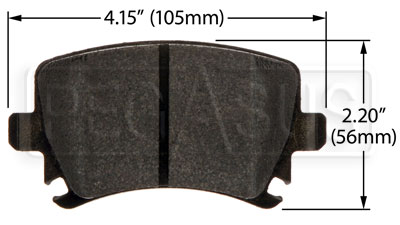 Large photo of Hawk Brake Pad: Audi, VW Rear (D1108), Pegasus Part No. HB544-Compound-Thickness