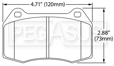 Large photo of Hawk Brake Pad: 04-09 Nissan 350Z with Brembo (D960), Pegasus Part No. HB545-Compound-Thickness