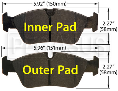 Large photo of Hawk Brake Pad: BMW (D781), Pegasus Part No. HB546-Compound-Thickness