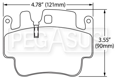 Large photo of Hawk Brake Pad: Porsche Boxster S, 911, Cayman (D917), Pegasus Part No. HB550-Compound-Thickness
