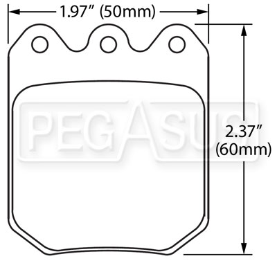 Large photo of Hawk Brake Pad: Wilwood DLS Caliper, Pegasus Part No. HB622-Compound-Thickness