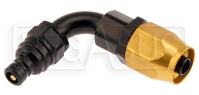 Large photo of Quick-Disconnect Plug to 6AN Hose End, 90 Degree, Pegasus Part No. JT22606E