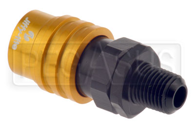 Large photo of Quick-Disconnect Socket to 1/4 NPT Male, Pegasus Part No. JT31804