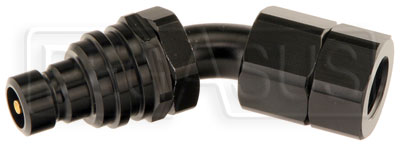 Large photo of Quick-Disconnect Plug to 6AN Female, 45 degree, Pegasus Part No. JT32306D