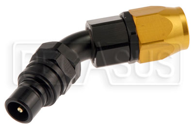 Large photo of Quick-Disconnect Plug to 12AN Hose End, 45 Degree, Pegasus Part No. JT52612D