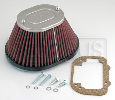 Large photo of K&N  Air Filter, Weber 32/36 DGV Tapered Oval, Pegasus Part No. KN 56-9290