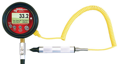 Large photo of Longacre Temp Compensated Tire Pressure Gauge and Pyrometer, Pegasus Part No. LA50370