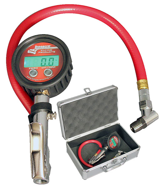 Large photo of Longacre Digital Quick Fill Gauge, 0-60 psi with Angle Chuck, Pegasus Part No. LA50386
