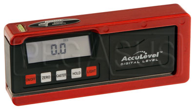Large photo of Digital AccuLevel Pro Caster/Camber Gauge, No Adapter, Pegasus Part No. LA78291