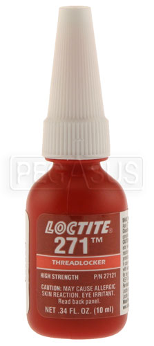 Large photo of Loctite 271 High Strength (Red) Threadlocker, 10ml, Pegasus Part No. LT-27121