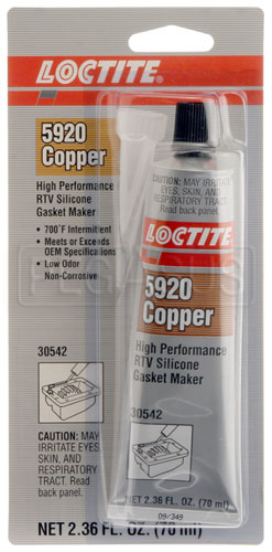 Large photo of Loctite 5920 High Temperature (Copper) RTV, 70 ml Tube, Pegasus Part No. LT-30542