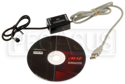 Large photo of MyChron3 Basic (Kart) Download Cable with RS 2 Software, Pegasus Part No. MC-009-BASIC