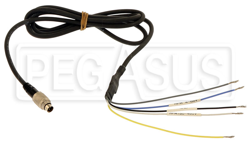 Large photo of AiM EVO4 RPM Signal Harness, Pegasus Part No. MC-270