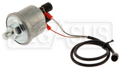 Large photo of AiM VDO 0-72 psi (5 bar) Pressure Sensor with Cable, Pegasus Part No. MC-323