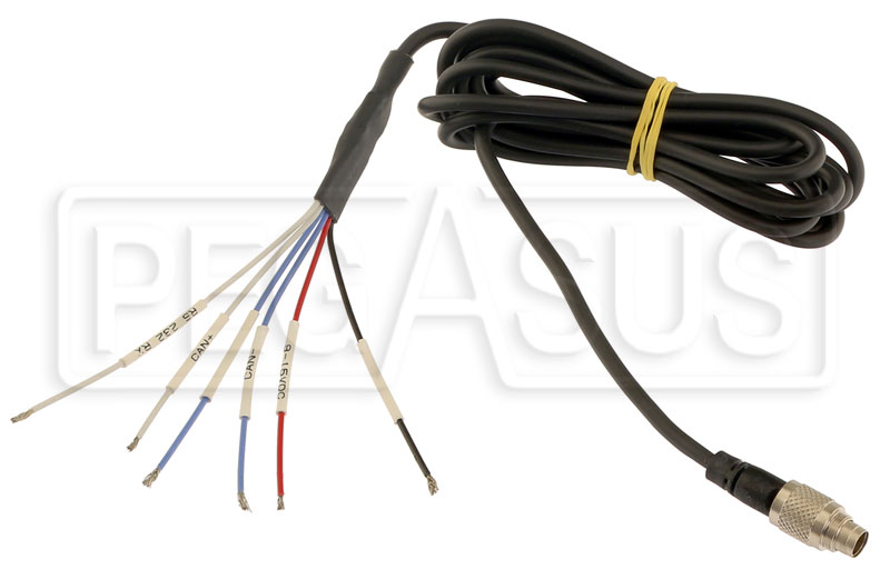 Large photo of AiM CAN 7-Pin to CAN/RS232 Wiring Harness for SoloDL, Pegasus Part No. MC-569