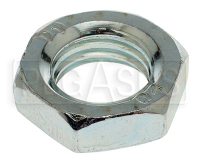 Large photo of Metric Jam Nut (Non-Locking Check Nut), Pegasus Part No. MJAM-Size-Thread