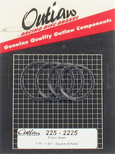 "Large photo of Outlaw 1.62"" Square Caliper Seals, (4 Pack), Pegasus Part No. OC 225-2255"