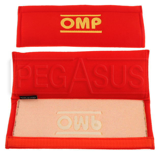 Large photo of OMP Velour Harness Pads, Pegasus Part No. OMP-DB450-Size-Color