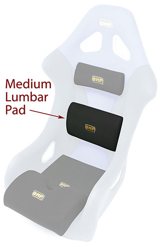 Large photo of Lumbar Support Cushion for OMP Seat, Medium, specify color, Pegasus Part No. OMP-HB/662-Color