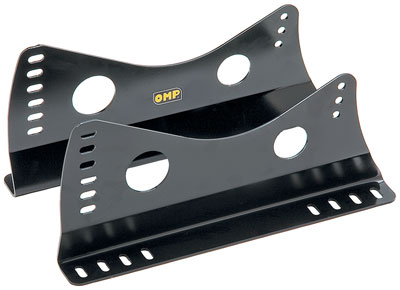 Large photo of OMP Steel Side-Mount Seat Brackets, Tall, Black, FIA, Pegasus Part No. OMP-HC731E