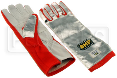 Large photo of OMP Aluminized Gloves (Pair), Pegasus Part No. OMP-NB1874-Size