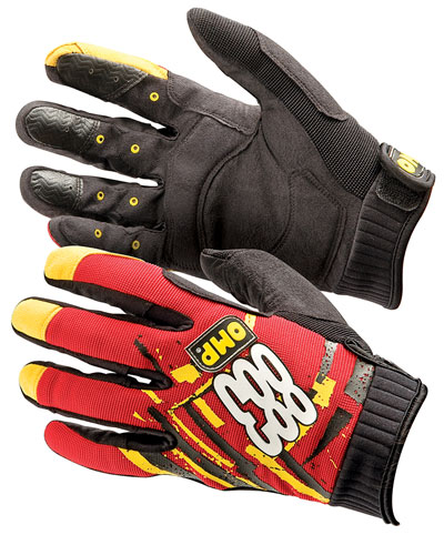 Large photo of OMP Mechanics Crew Gloves, Pegasus Part No. OMP-NB1883-Size-Color