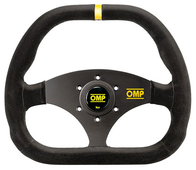 Large photo of OMP Kubic Steering Wheel, Suede, 310mm x 265mm, Pegasus Part No. OMP-OD1985-Color
