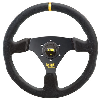 "Large photo of OMP Targa Steering Wheel, Suede, 330mm (13""), Pegasus Part No. OMP-OD2005-Color"