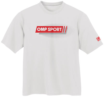 Large photo of OMP Sport Line T-Shirt, White, Pegasus Part No. OMP-OR5001-Size-Color