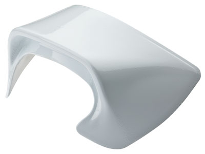Large photo of White Rear Spoiler for OMP Speed and Grand Prix Helmets, Pegasus Part No. OMP-SC053