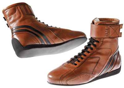 Large photo of OMP Carrera High Top Racing Boot, FIA Approved, Pegasus Part No. OMP002-Size-Color