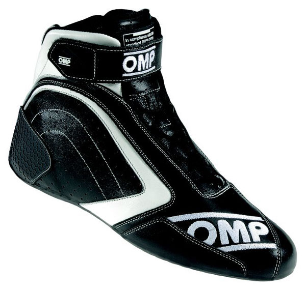 Large photo of OMP One Evo Driving Shoe, FIA Approved, Pegasus Part No. OMP005-Size-Color
