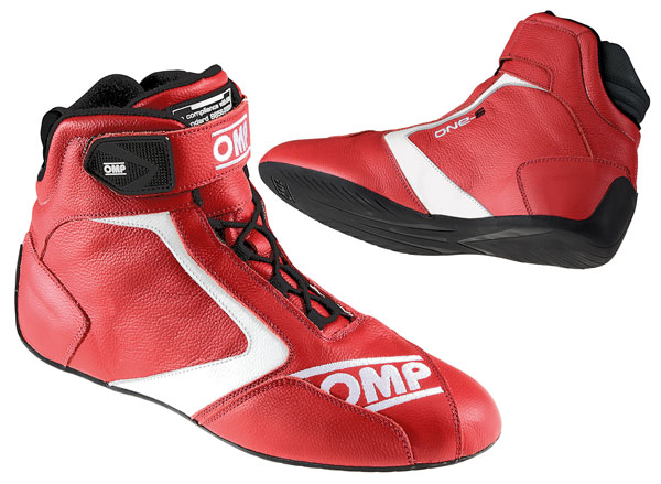 Large photo of OMP One-S Driving Shoe, FIA Approved, Pegasus Part No. OMP006-Size-Color