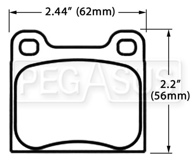 Large photo of PFC Racing Brake Pad, Alfa, BMW, Porsche, Volvo (D31), Pegasus Part No. PF031-Size