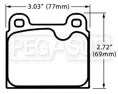 Large photo of PFC Racing Brake Pad, Alfa, Ferrari, Porsche 911 (D45), Pegasus Part No. PF045-Size