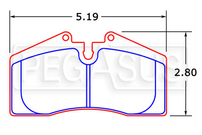 Large photo of PFC Racing Brake Pad, Porsche 911 Carrera (D447), Pegasus Part No. PF447-Size