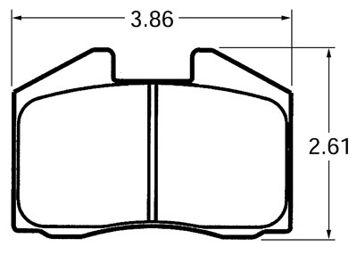 Large photo of PFC Street Brake Pad, 78-79 Porsche 911 Turbo (D250), Pegasus Part No. PF725Z